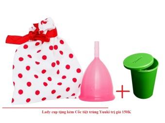 LadyCup Hồng + Tặng 1 cốc tiệt trùng Yuuki