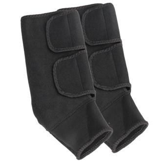 Bộ 2 băng bảo vệ cổ chân có khóa dán và khóa zip tiện lợi (Đen)