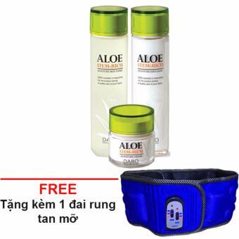Nước hoa hồng dưỡng ẩm DABO ALOE STEM-RICH SKIN 150ml + Tặng kèm đai rung x5