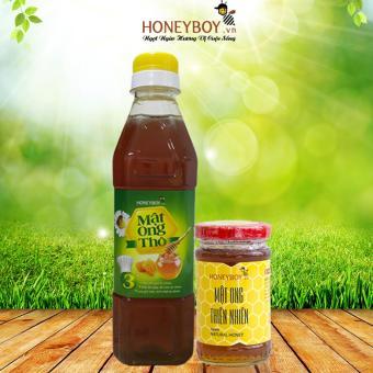Bộ Mật Ong Thiên Nhiên Honeyboy 100ml Và Mật Ong Thô Honeyboy 400ml