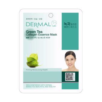 Mặt nạ dưỡng da tinh chất trà xanh Dermal Green Tea Collagen Essence Mask 23g