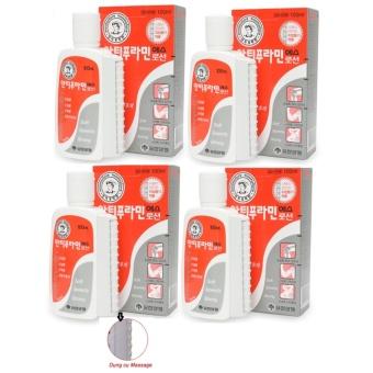 Bộ 4 Hộp Dầu nóng xoa bóp/massage Yuhan Antiphlamine Lotion 100ml/hộp