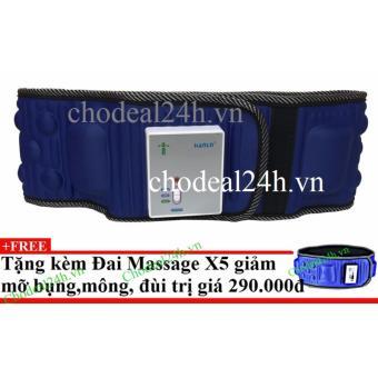 Đai massage bụng giảm mỡ x5 + Tặng đai massage x5 giảm mỡ