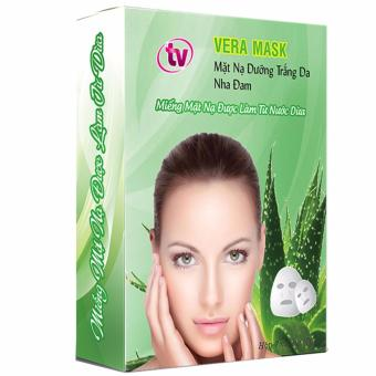 Bộ 10 mặt nạ dưỡng da triết xuất nha đam TV Vera Mask