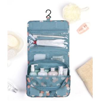Túi đựng mỹ phẩm TOILETRY POUCH có móc treo (Xanh nước biển)