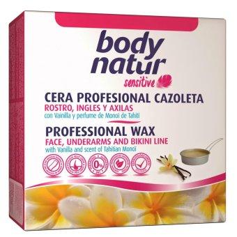 Sáp tẩy lông dạng wax ấm Body Natur Cera Tibia 250ml