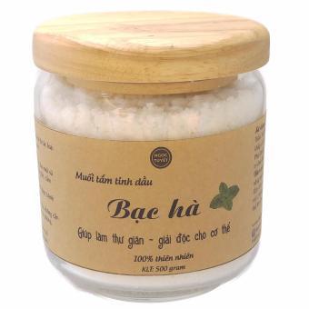 Muối tắm tinh dầu bạc hà 500gr Ngọc Tuyết 100% hữu cơ