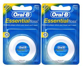 Bộ 2 hộp Chỉ nha khoa Oral-B Essential Floss 50m