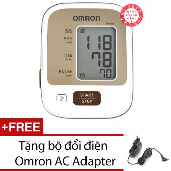Máy đo huyết áp bắp tay JPN500 + Tăng bộ đổi điện Omron AC Adapter