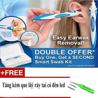 Dụng cụ lấy ráy tai Smart Swab an toàn + Tặng kèm que lấy ráy tai có đèn