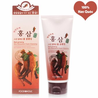 Sữa Rửa Mặt Hồng Sâm Se Khít Lỗ Chân Lông Foodaholic Red Ginseng Foam Cleansing Hàn Quốc 180ml - Hàng Chính Hãng