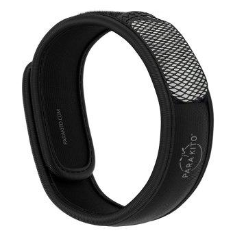Viên chống muỗi PARA'KITO™ kèm vòng đeo tay bằng vải màu đen (1 viên chống muỗi)