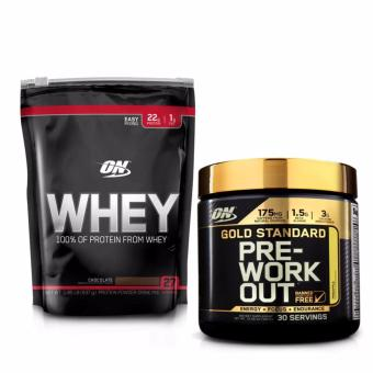 Bộ ON Whey 1.85 lb Chocolate + ON Gold Standard Preworkout 300gr vị Pineapple
