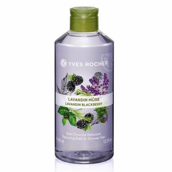 Gel tắm mâm xôi đen và oải hương Yves Rocher 400ml