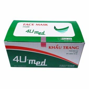 Mua Khẩu trang y tế 4U-med cao cấp 3 lớp (Hồng nhạt) giá tốt nhất