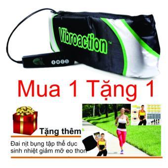 Đai massage thon gọn bụng Vibroaction + Đai nịt bụng sinh nhiệt giảm mỡ