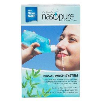 Bộ dụng cụ rửa mũi xoang NASOPURE (gồm Bình xịt 8oz ~ 240ml và 4 gói muối x 3.75g) (Made in USA - DCYK)