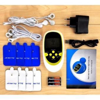 Máy massage bấm huyệt xung điện kỹ thuật số 8 trong 1 (Trắng)
