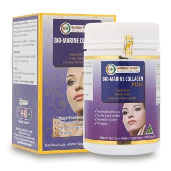 Viên uống đẹp da tóc móng Bio Marine Collagen Plus Golden Health 100 viên