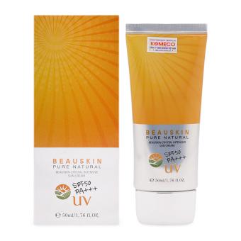 Kem chống nắng 3 trong 1 làm trắng chống nhăn chống nắng Beauskin Crystal Intensive Sun Cream SPF50/PA+++ 50ml