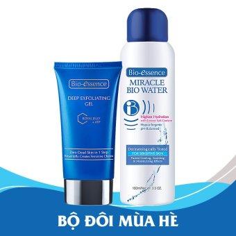 Bộ 1 gel tẩy tế bào chết sữa ong chúa + ATP 60g và 1 nước khoáng dưỡng da Miracle Bio Water 100ml