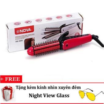 Máy Tạo Kiểu Tóc Đa Năng 3 Trong 1 Nova Nhc-8890 (Hồng) + Tặng Kính Nhìn Xuyên Đêm Night View Glass