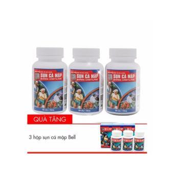 Combo Siêu tiết kiệm 3 hộp Sụn cá mập Bell shark cartilage Tặng 3 hộp sụn cùng loại 30 viên (3 hộp 100 viên+ 3 hộp 30 viên)