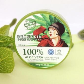 Gel dưỡng ẩm lô hội Beauskin 100% Aloevera Soothing 300g