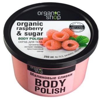 Kem Tấy Da Chết Toàn Thân Body Organic Shop Chiết Xuất Từ Quả Mâm Xôi