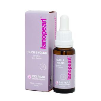 Tinh chất chống lão hóa cho da 18 - 30 tuổi LANOPEARL Touch & Young Sensitive Skin Serum 25ml