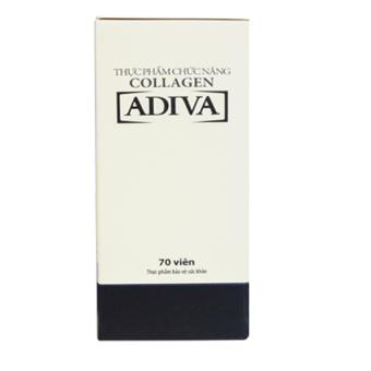 Bộ 3 lọ viên uống collagen ADIVA 70 viên + Tặng 1 hộp cùng loại