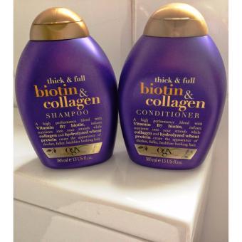 Bộ dầu gội và dầu xả kích thích mọc tóc Biotin collagen OGX 385ml
