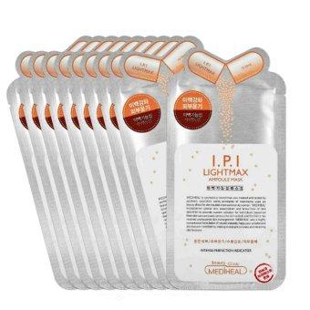 Bộ 10 gói Mặt Nạ Dưỡng trắng da cao cấp Mediheal I.P.I Lightmax Ampoule Mask 25ml x10