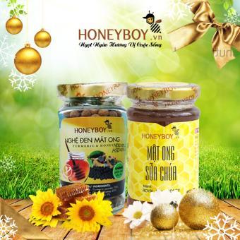 Mật ong sữa chúa Honeyboy 100ml và Nghệ đen mật ong Honeyboy 80g