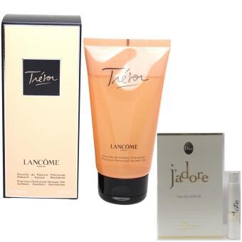 Sữa tắm nữ Lancome Tresor 150 ml + Tặng kèm 01 vỉ nước hoa nữ Dior Jadore EDP 1 ml