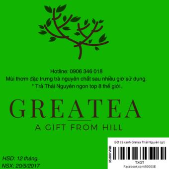 Bột trà xanh Gretea Thái Nguyên 100g