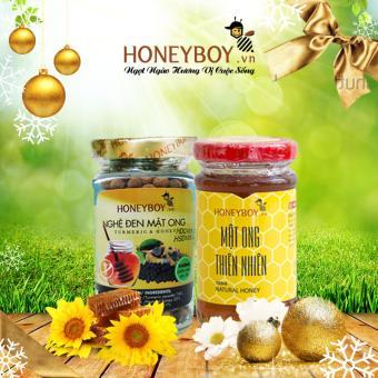 Mật ong thiên nhiên Honeyboy 100ml và Nghệ đen mật ong Honeyboy 80g