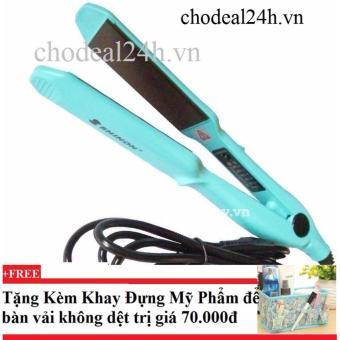 Máy duỗi kẹp tóc đa năng Shinon 8090T+ Tặng kèm khay đựng mỹ phẩm để bàn