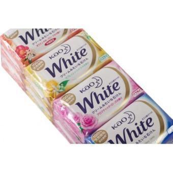 Bộ 4 bánh xà bông tắm KAO White - Hương hoa - 130g