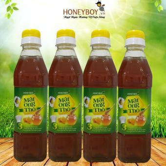 Bộ 4 Mật Ong Thô Honeyboy 400ml