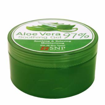 Gel làm dịu da chiết xuất lô hội SNP Aloe Vera 97% Soothing Gel 300g
