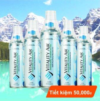 Bộ 5 sản phẩm Vitality Air - Không khí sạch đóng chai Banff - Canada