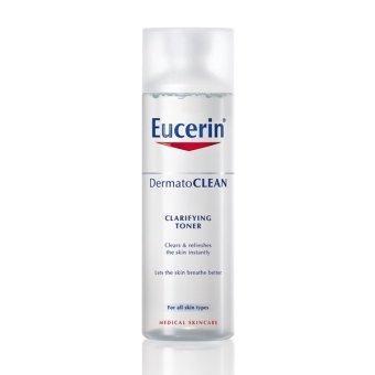 Nước hoa hồng cho da nhạy cảm Eucerin Dermatoclean Clarifying Toner 200ml