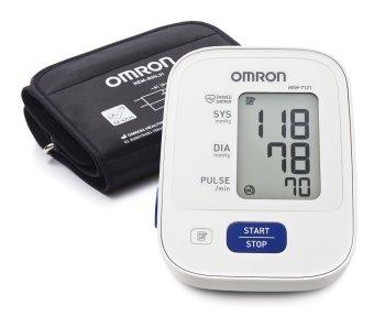 Máy đo huyết áp bắp tay Omron HEM-7121 (Trắng xám)