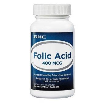 Viên uống bổ sung acid folic GNC INTL GNC FOLIC ACID 400 MCG 100 viên