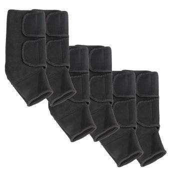 Bộ 6 băng bảo vệ cổ chân có khóa dán và khóa zip tiện lợi (Đen)