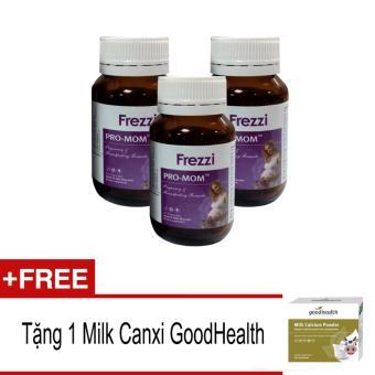 Bộ 3 Lọ Viên Uống Bổ Sung Vitamin Cho Bà Bầu Pro-Mom + Tặng 1 Hộp Milk Canxi Goodhealth