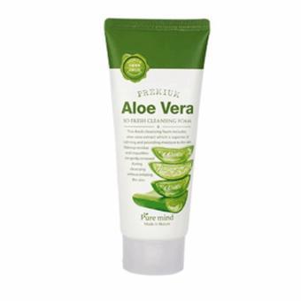 Sữa rửa mặt chiết xuất Nha đam Pure Mind Premium Aloe Vera Cleaning Foam 100 ml