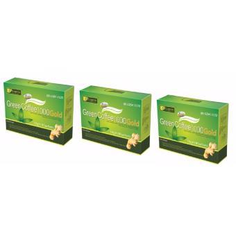 Bộ 3 Hộp Trà Giảm Cân, Tan Mỡ Leptin Green Coffee 1000 (chuẩn MỸ- HG)