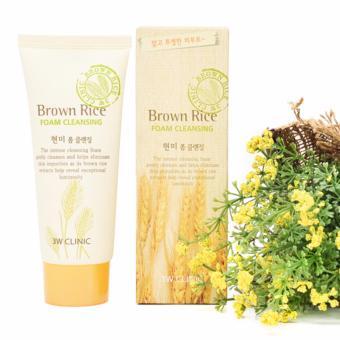 Sữa rửa mặt gạo 3W Clinic Brown Rice Foam Cleansing 100ml